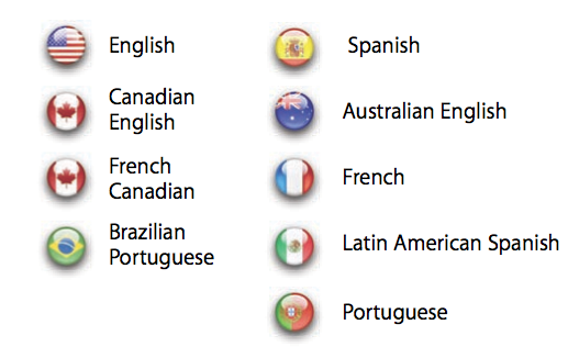 iTunes App Store languages iPhone supports