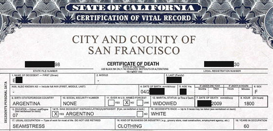 Certified and notarized translations in san francisco bay area death certificate yelopaper Image collections