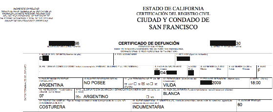 Certified and notarized translations in san francisco bay area death certificate yadclub Gallery
