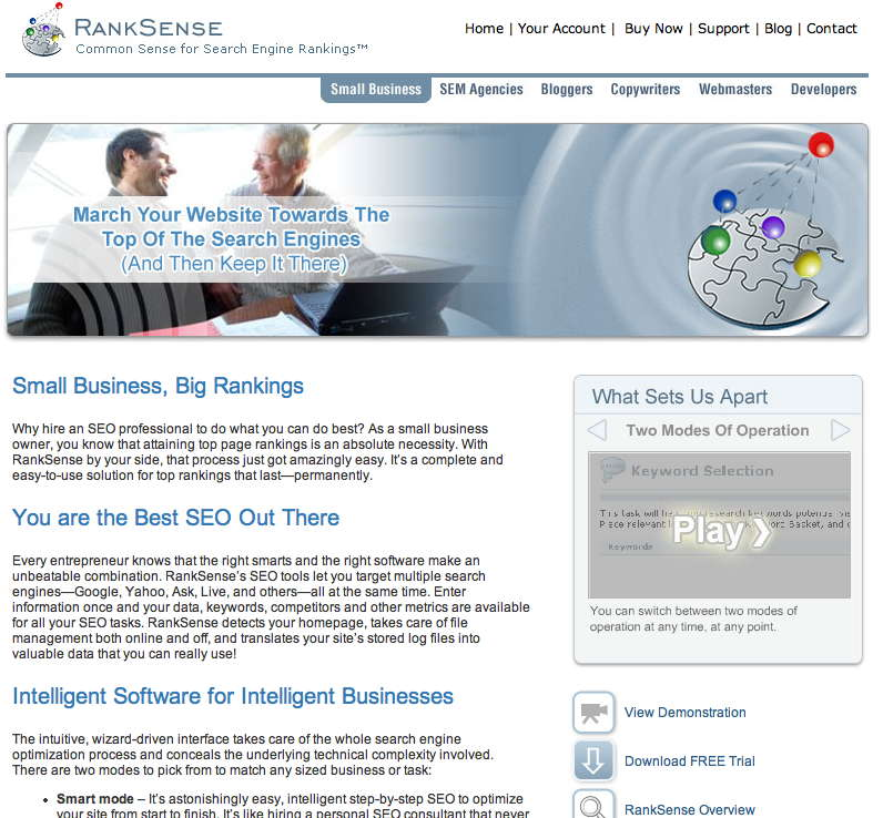 SEO-software: RankSense