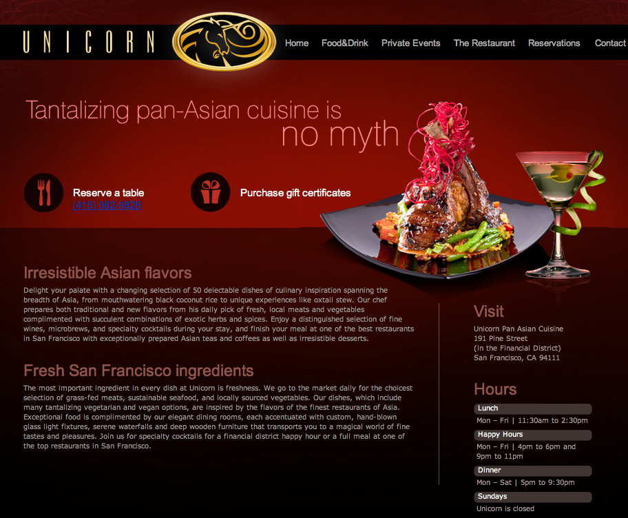 Unicorn Pan Asian Cusine (Restaurant)